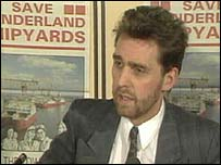 Photograph of Alan Milburn MP in his earlier incarnation as a leftwinger