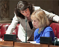 frameWisconsin SenatorsLeah Vukmir and Alberta Darling