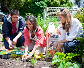 Rosario Dawson Unknowingly Posing at EMA Organic Garden Next to Kellogg's Sewage Sludge-Based Product, Amend