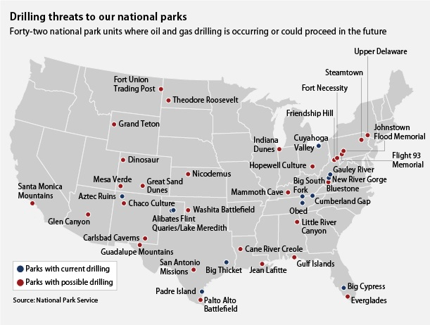 Nationally treasured federal lands face threats by extractive industries