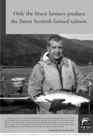 Newspaper advertisement promoting salmon