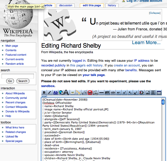 Wikipedia Page Template Category:congresspedia pages