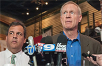 frameNY Gov. Chris Christie and Bruce Rauner