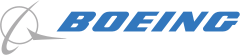 The contemporary logo integrates the Boeing logotype with a stylized version of the McDonnell Douglas symbol