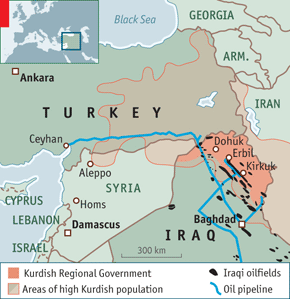 KirkukCeyhan Oil Pipeline SourceWatch - Map of us troops on iraq and oil piplines